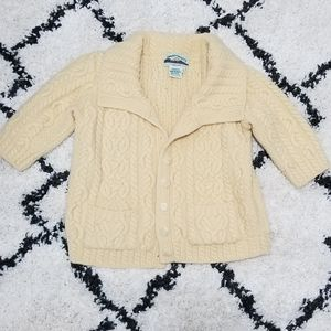 Aran Crafts 100% Merino Wool Sweater